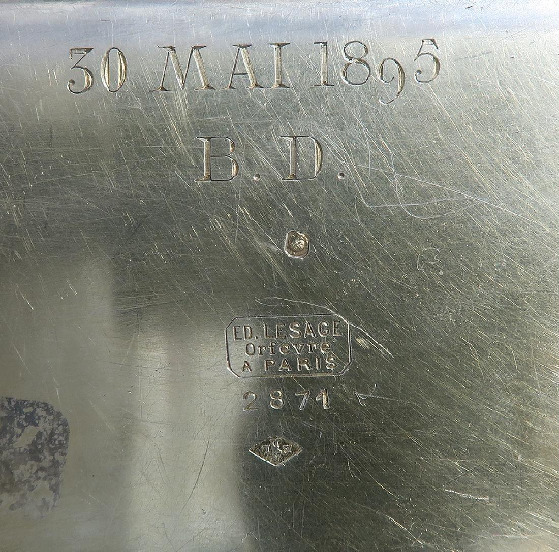 French Cruet Silver Set ED Lesage Orfevre Paris - 6
