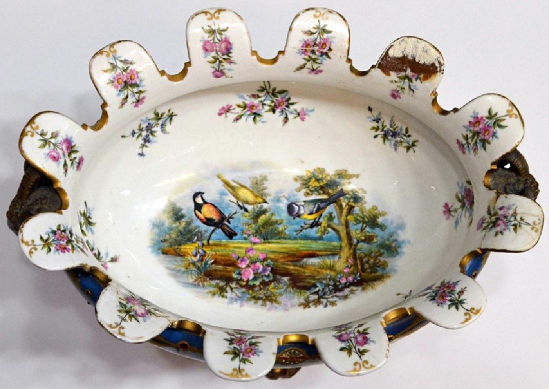 French Sevres porcelain center bowl - 2