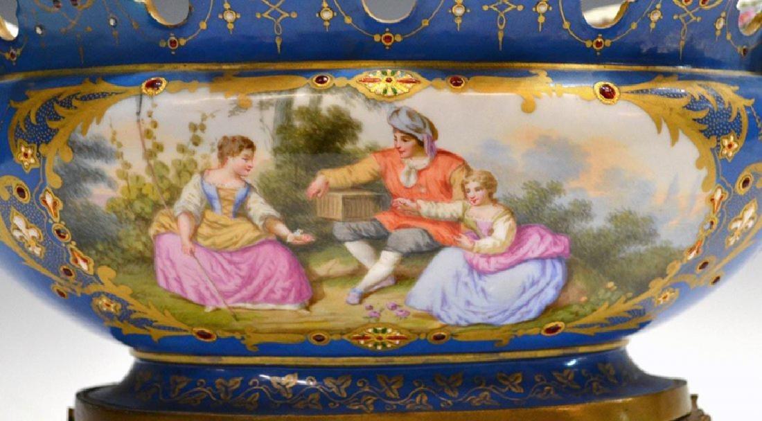 French Sevres porcelain center bowl - 3