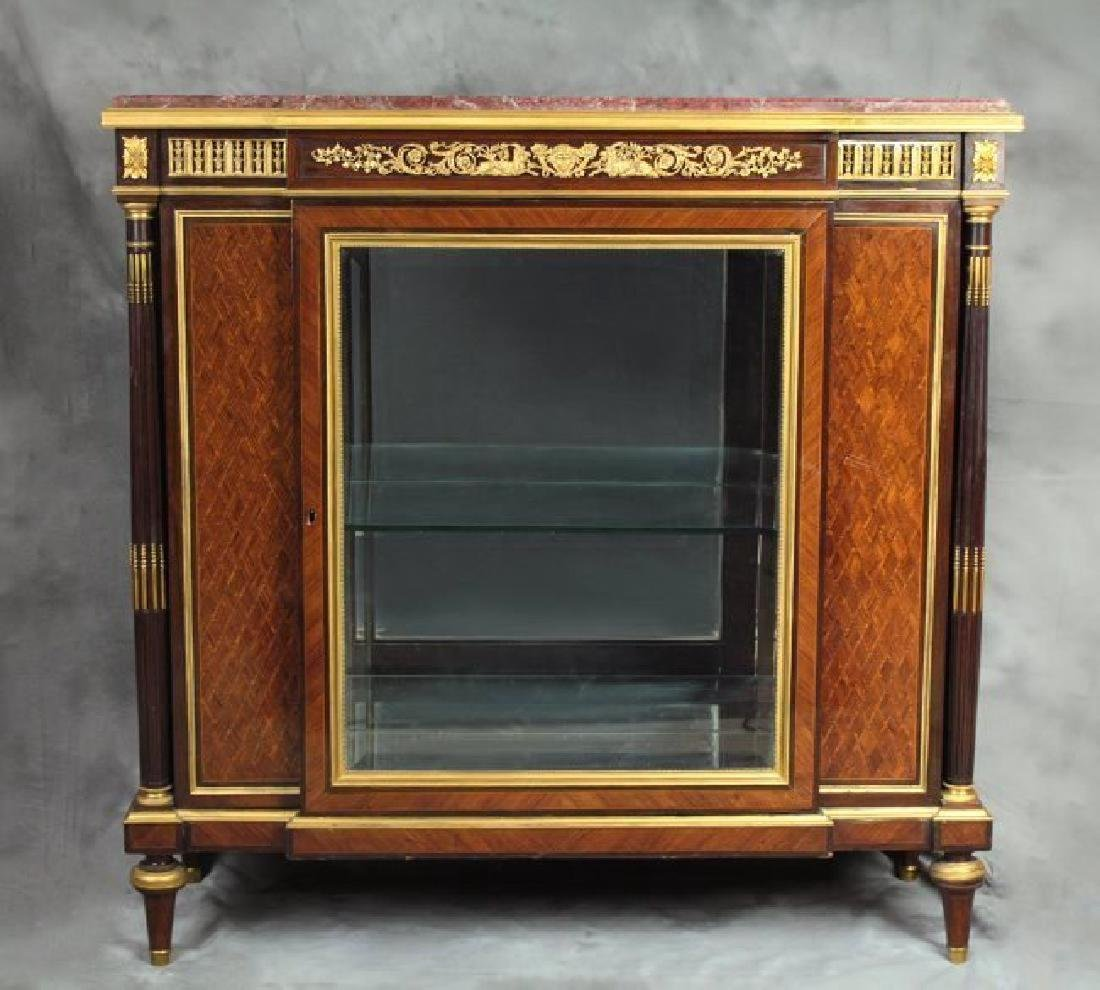 "Very Fine French Vitrine Cabinet Signed ""F. Linke"" - 2"
