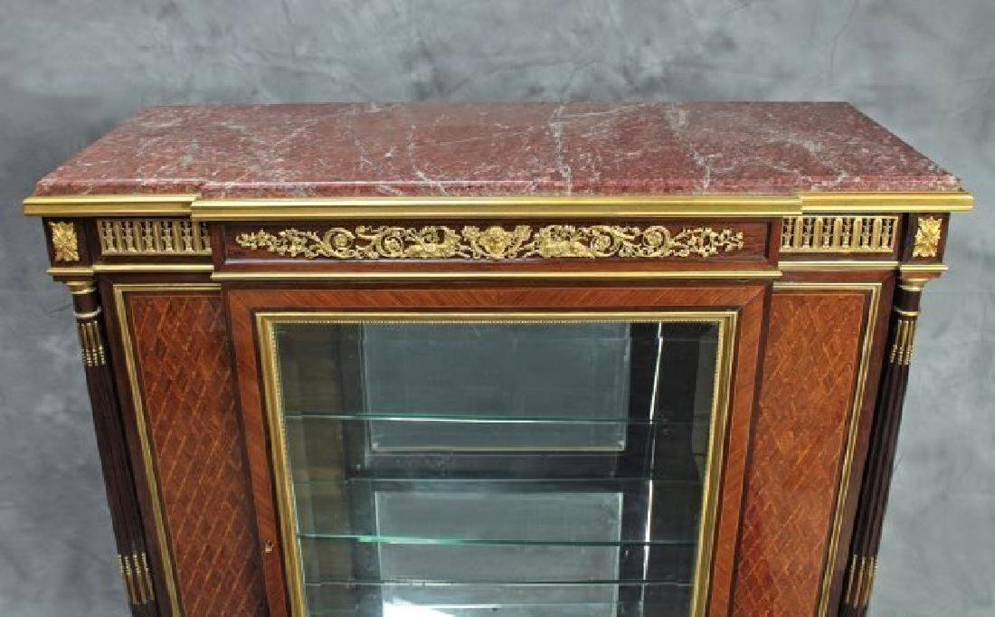 "Very Fine French Vitrine Cabinet Signed ""F. Linke"" - 3"