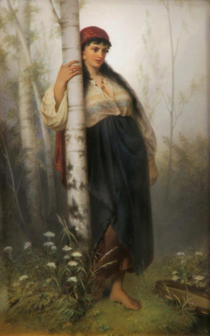 Monumental Berlin KPM Porcelain Plaque of a Maiden - 2