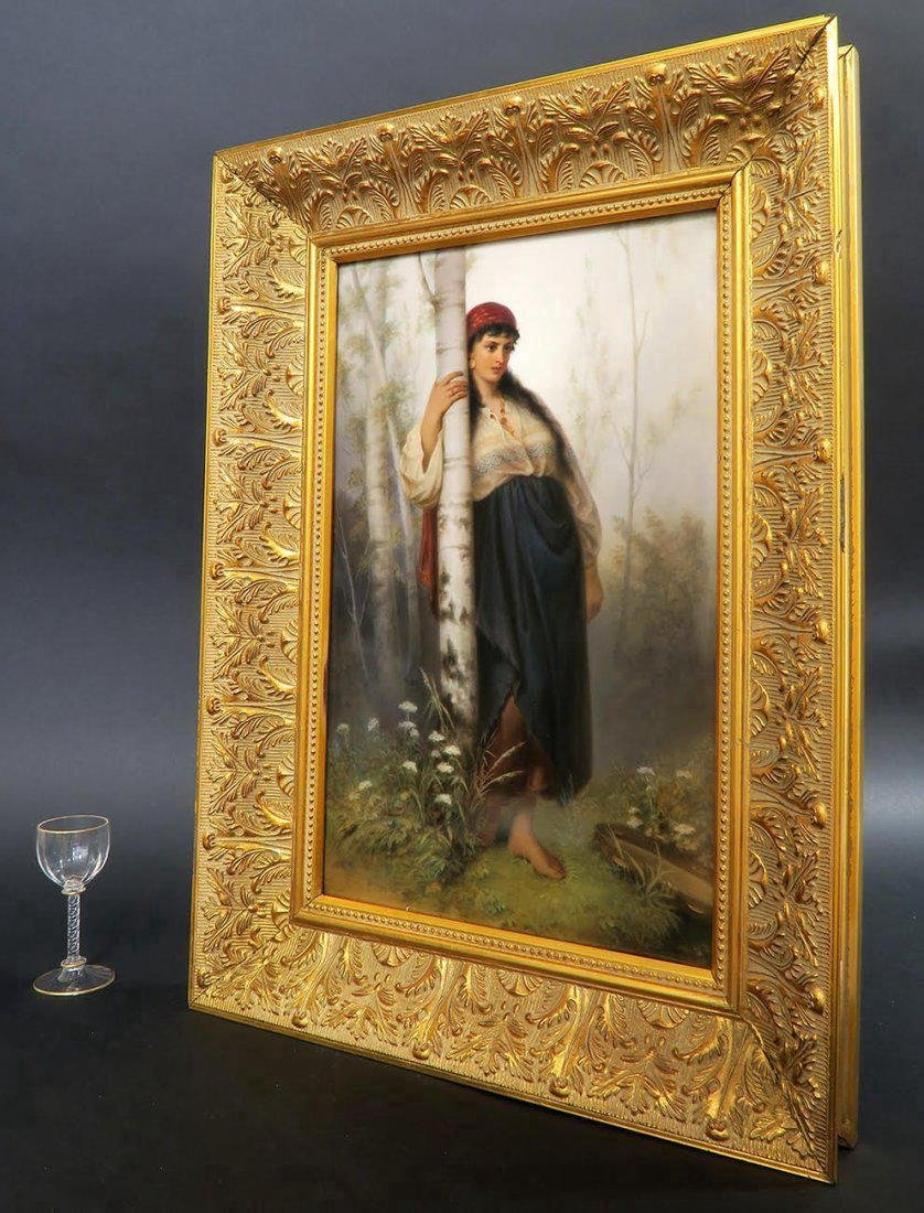 Monumental Berlin KPM Porcelain Plaque of a Maiden - 3