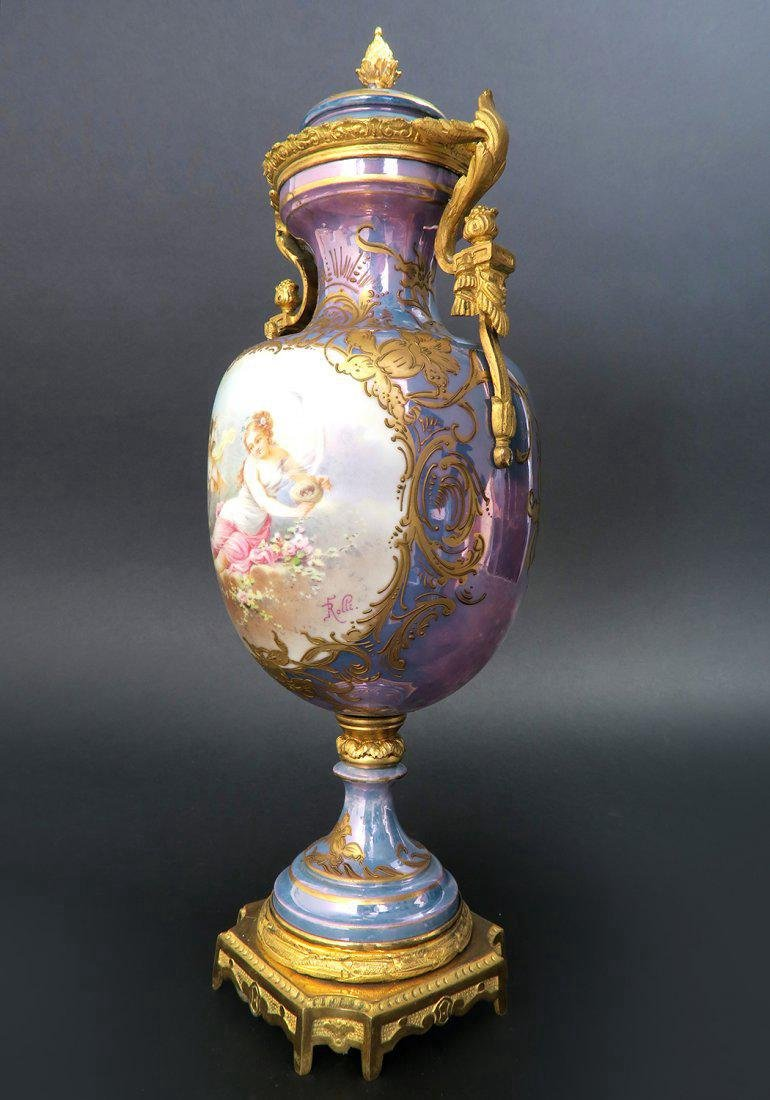 French Bronze Mounted Sevres Porcelain Vase - 2