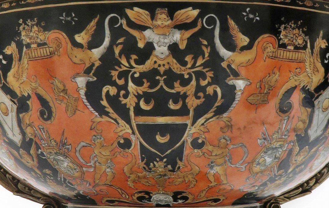 Large Chinoiserie Porcelain & Bronze Centerpiece - 2