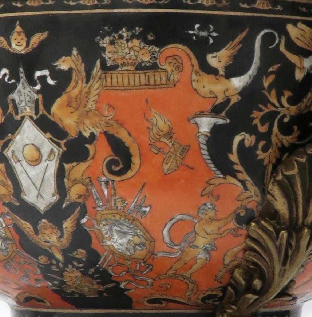 Large Chinoiserie Porcelain & Bronze Centerpiece - 4