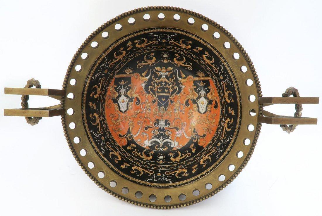 Large Chinoiserie Porcelain & Bronze Centerpiece - 9