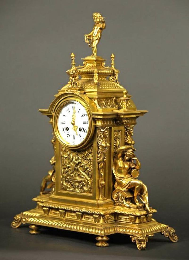 French Gilt bronze louis clock Louis XV Style Clock - 4