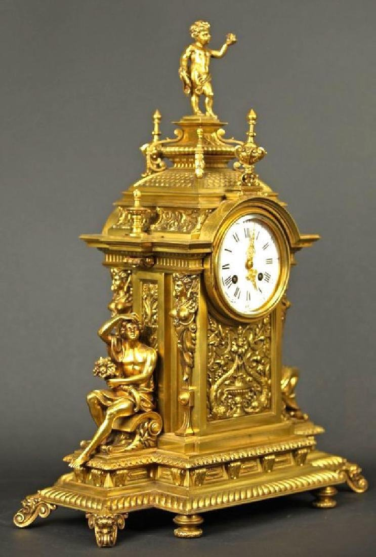 French Gilt bronze louis clock Louis XV Style Clock - 7