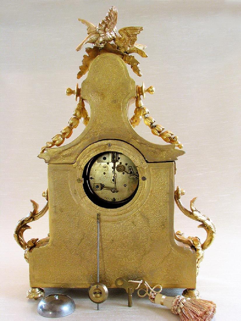Antique Gilt Ormolu and Sevres Clock - 3