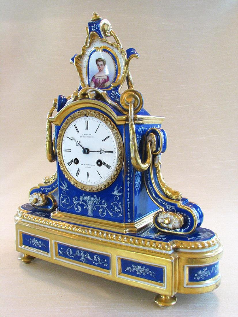 Very Fine French Porcelain Clock, Circa 1860 - 2