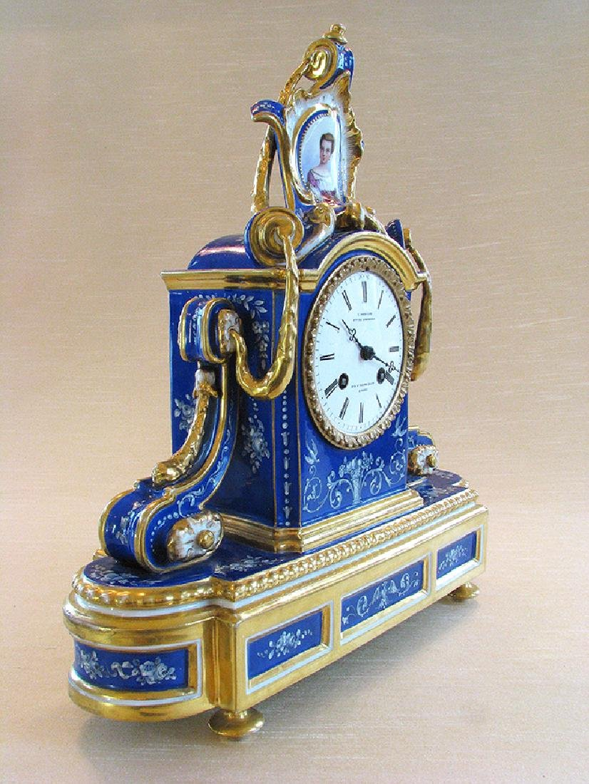 Very Fine French Porcelain Clock, Circa 1860 - 3