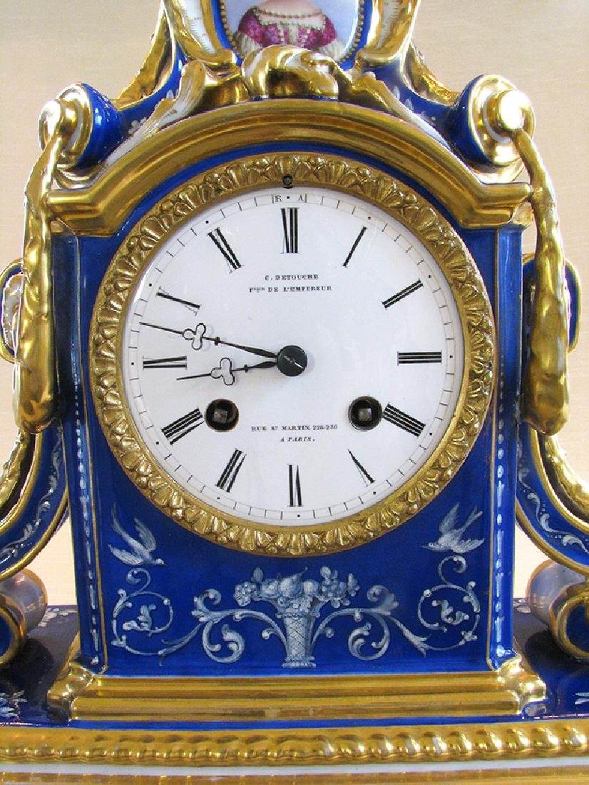 Very Fine French Porcelain Clock, Circa 1860 - 6