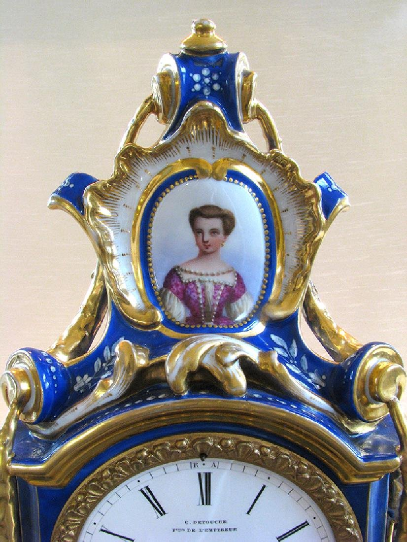 Very Fine French Porcelain Clock, Circa 1860 - 7