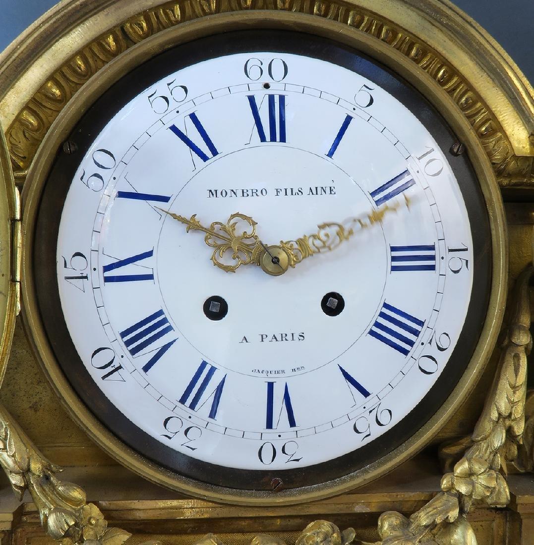 "Fine Large ""Henri Picard"" Figural Bronze Clock - 6"