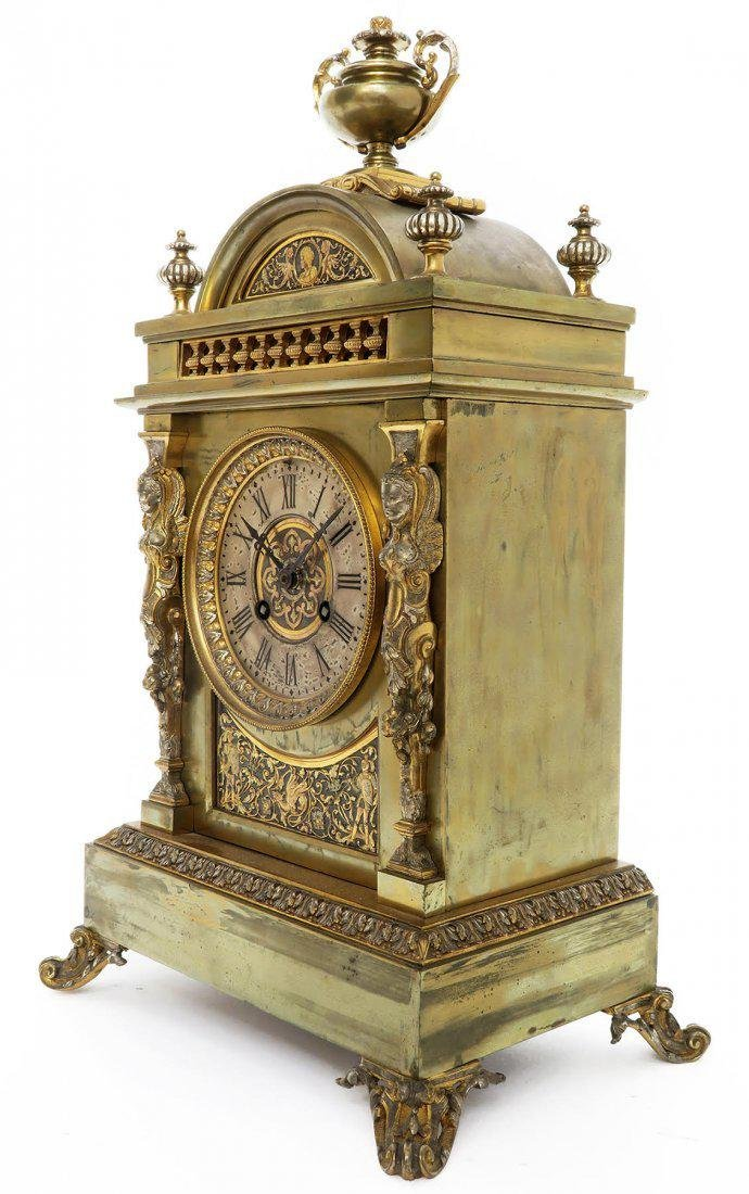 French Bronze Figural Mantle Clock Set - 5