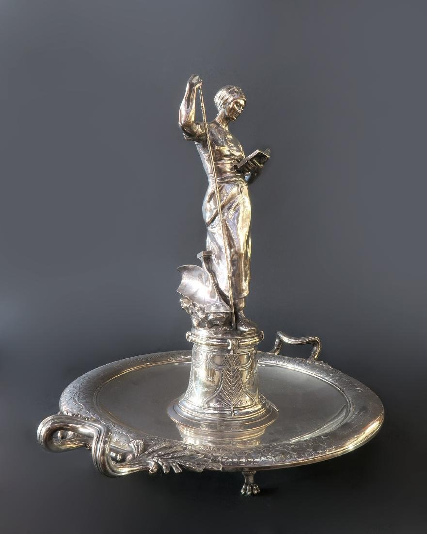 """Important """"CHRISTOFLE"""" Sterling Silver Centerpiece - 3"""