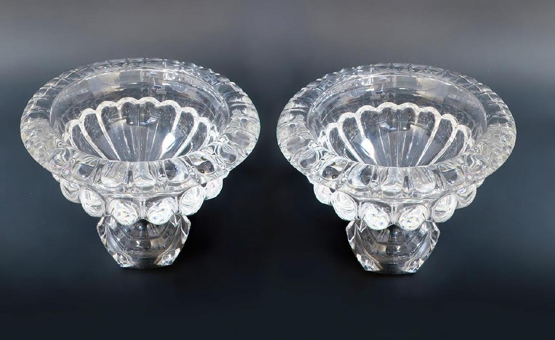 Pair of French Baccarat Crystal Vases / Bowls - 2