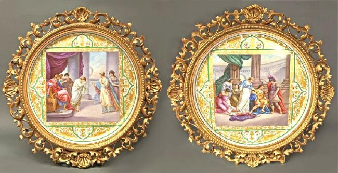 "Monumental Framed Royal Vienna Charger 19 5/8"" - 4"