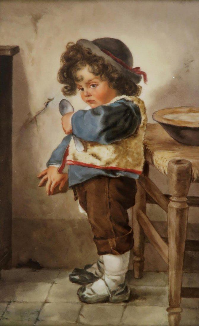 Large Berlin KPM Porcelain Plaque of a Boy - 2
