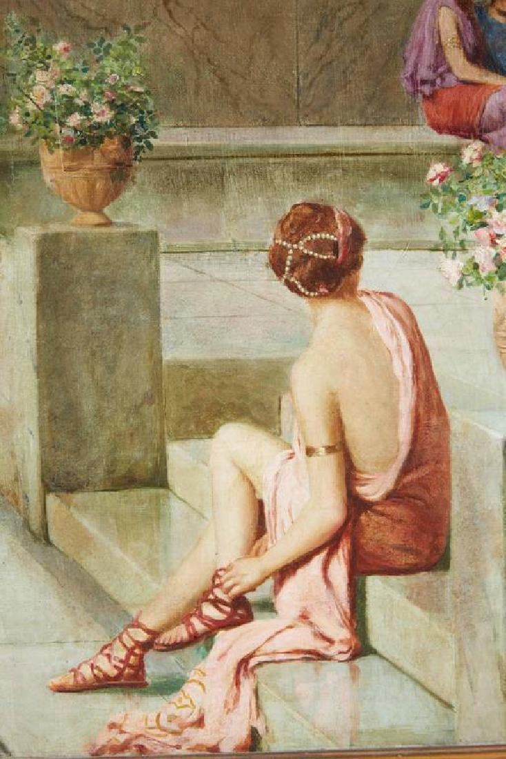 "Guglielmo Zocchi ""Harem Scene"" Orientalist Oil Painting - 4"