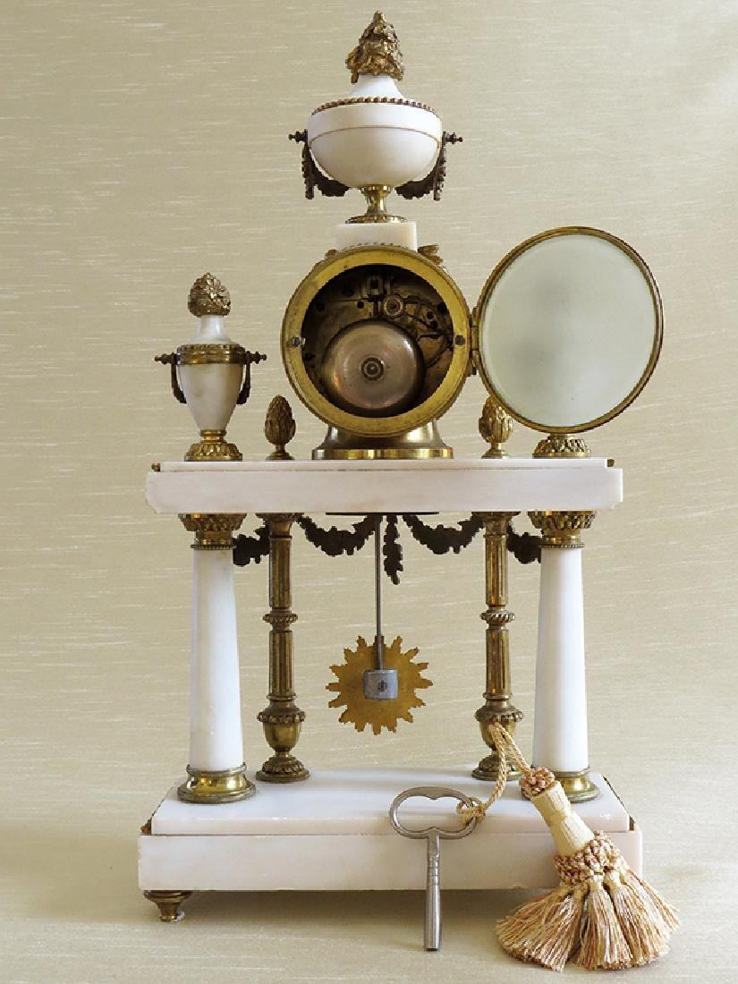 1870 Antique French Bronze & Marble 3pcs clock set - 6