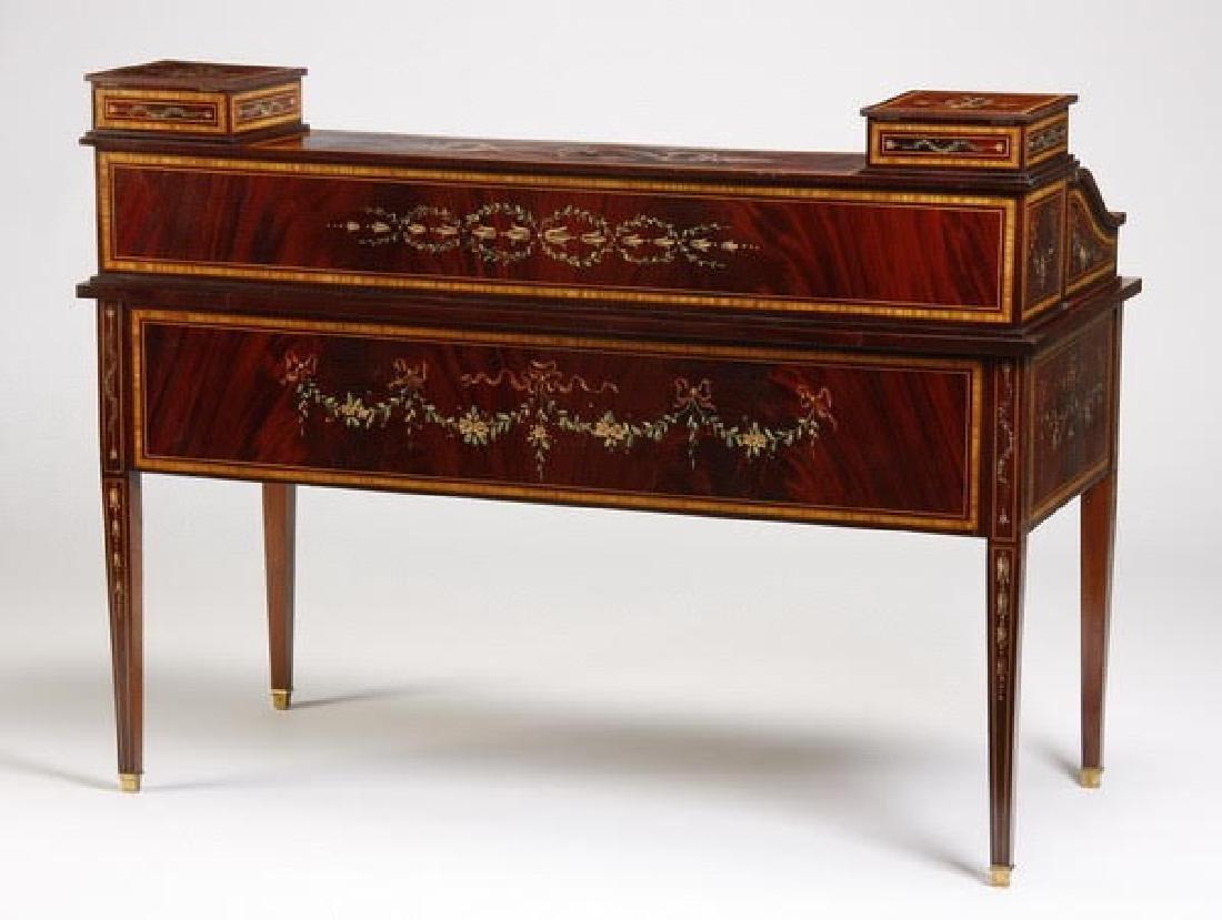 Magnificent English Regency style mahogany writing desk - 2