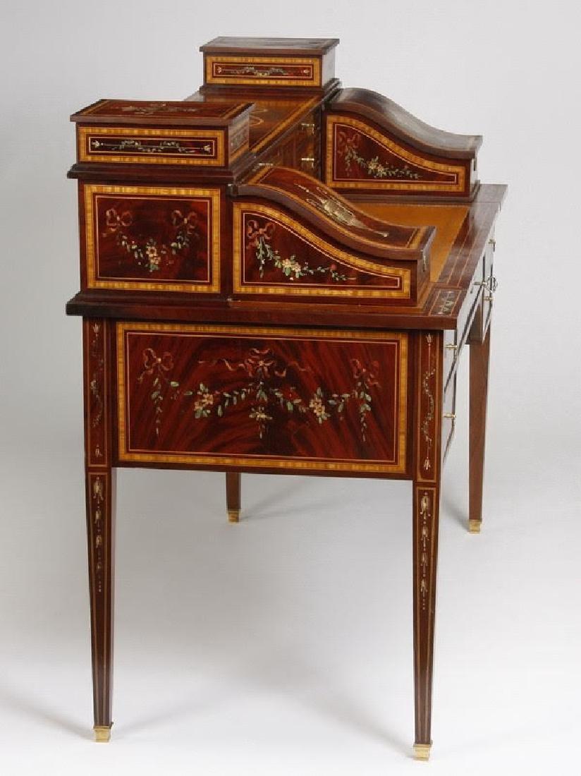 Magnificent English Regency style mahogany writing desk - 4