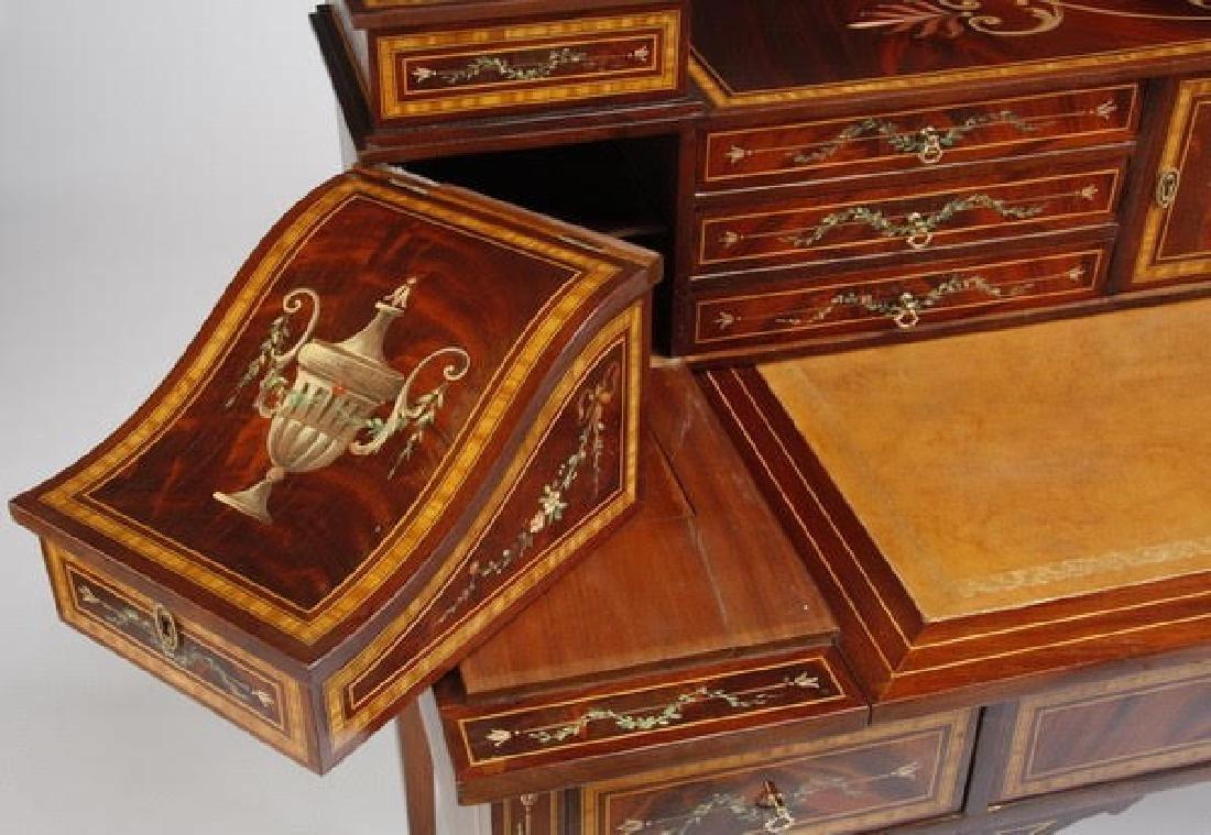 Magnificent English Regency style mahogany writing desk - 7