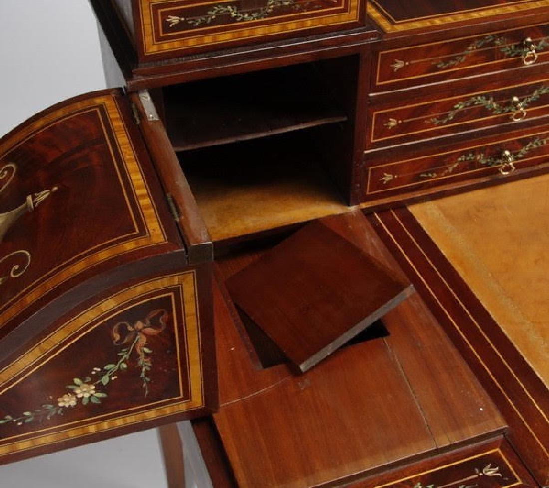 Magnificent English Regency style mahogany writing desk - 8