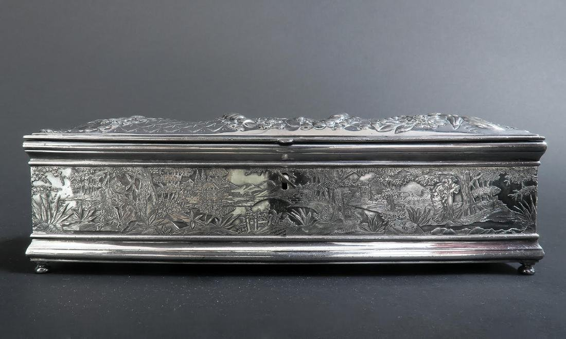 Fine 19th C. Silver-Plated Jewelry Box - 2