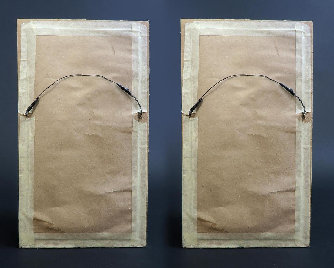 Pair of French Porcelain Plaques Signed Leconte - 3