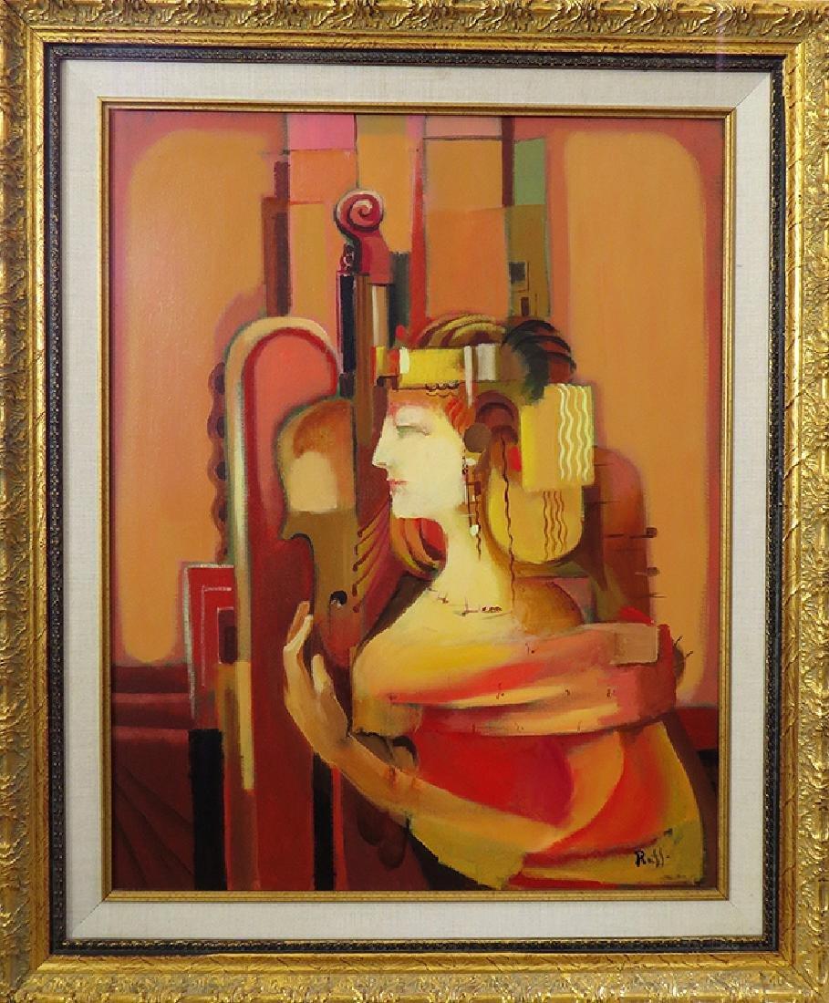 """The Chellist"""" Acrylic on Canvas By """"Raffi"""