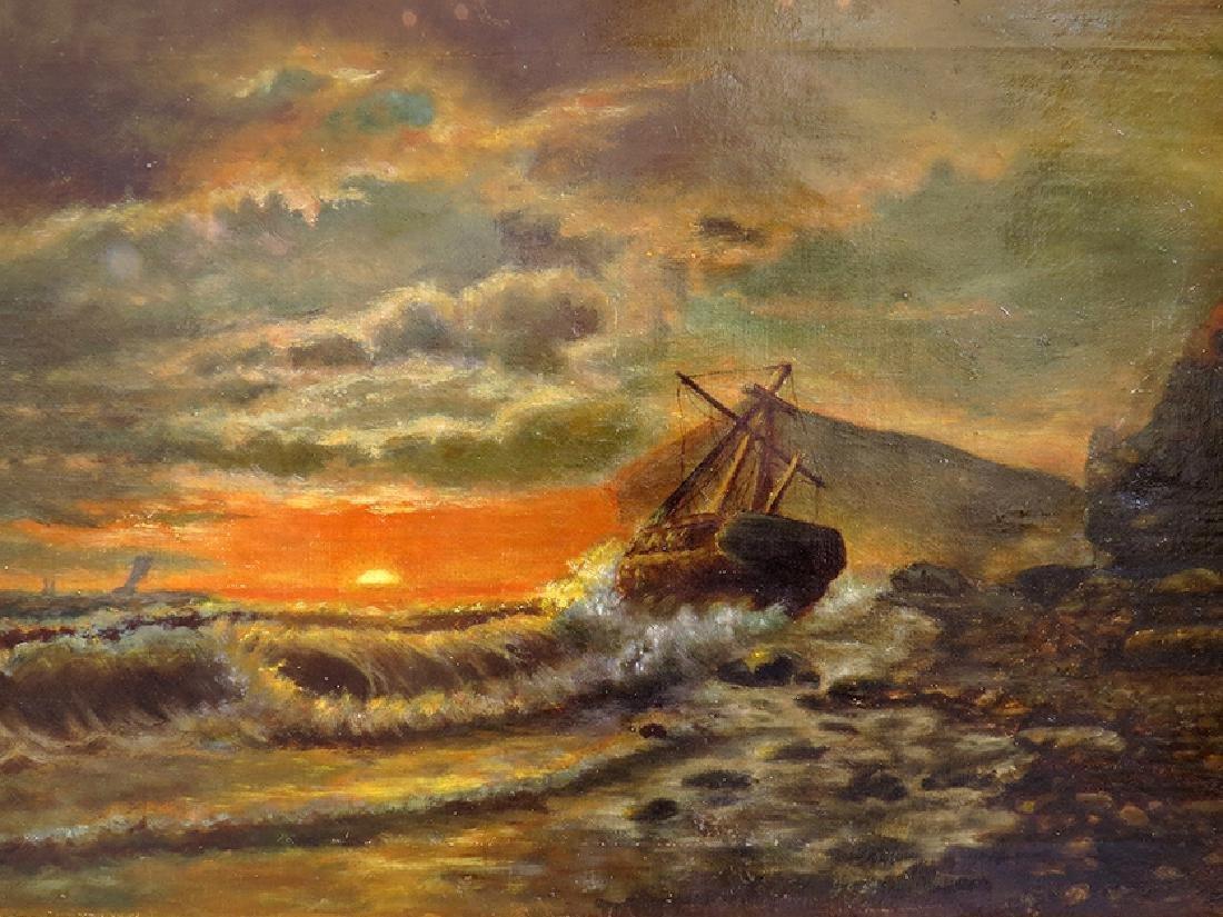 "Sensational ""Seascape"" Painting By ""Mead Schaeffer"" - 2"