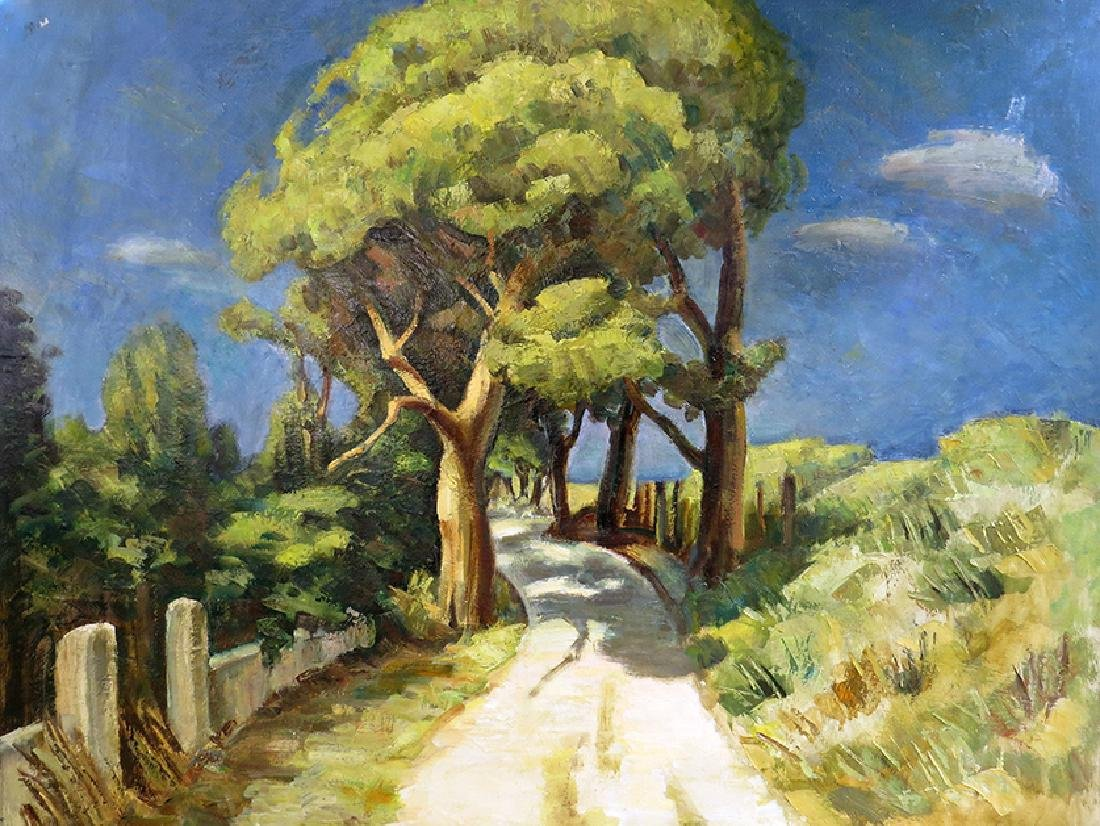 "A Country Road""  Painting Signed By ""Sitnenka"