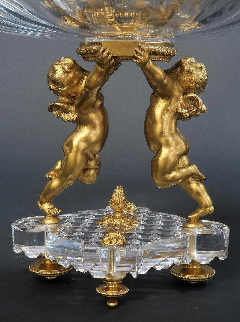19th C. French Baccarat Figural 3 Pcs Garniture - 5