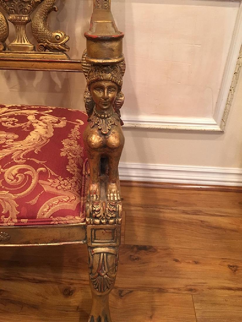 A Pair of Empire Style Chairs with Sphinx's arm support - 7