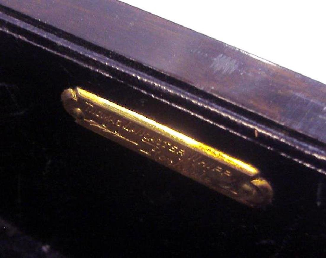 Macassar ebony wood jewelry box, velvet fitted interior - 4