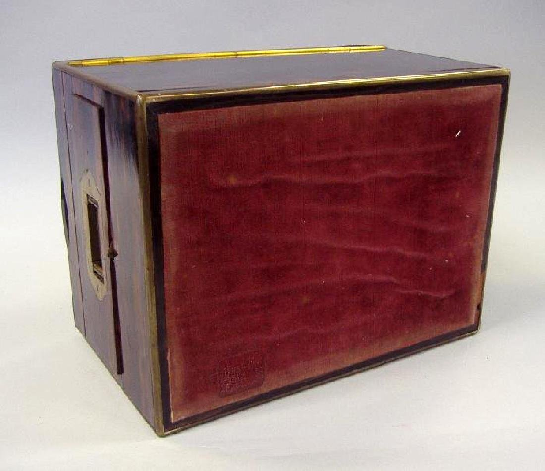 Macassar ebony wood jewelry box, velvet fitted interior - 5