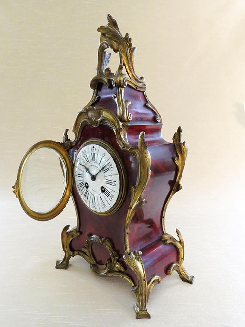 Antique French Boulle Clock - 3