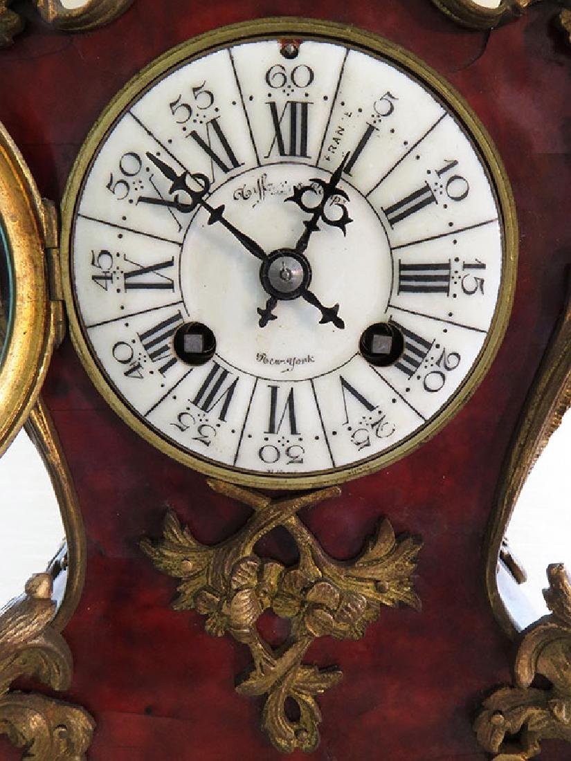 Antique French Boulle Clock - 4