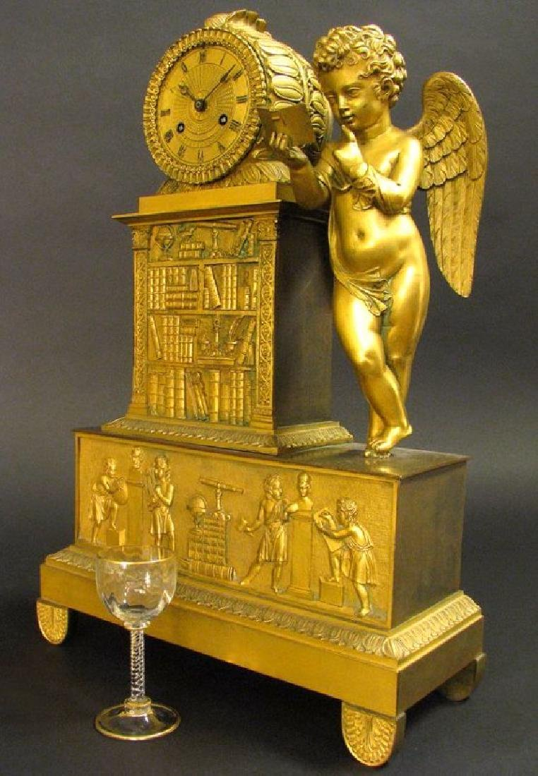 Magnificent 19th C. Large Empire Figural Clock