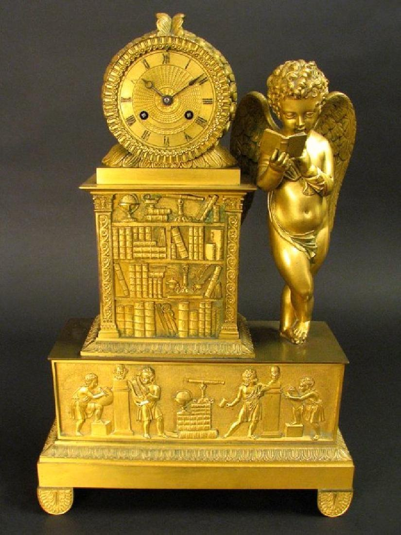 Magnificent 19th C. Large Empire Figural Clock - 2