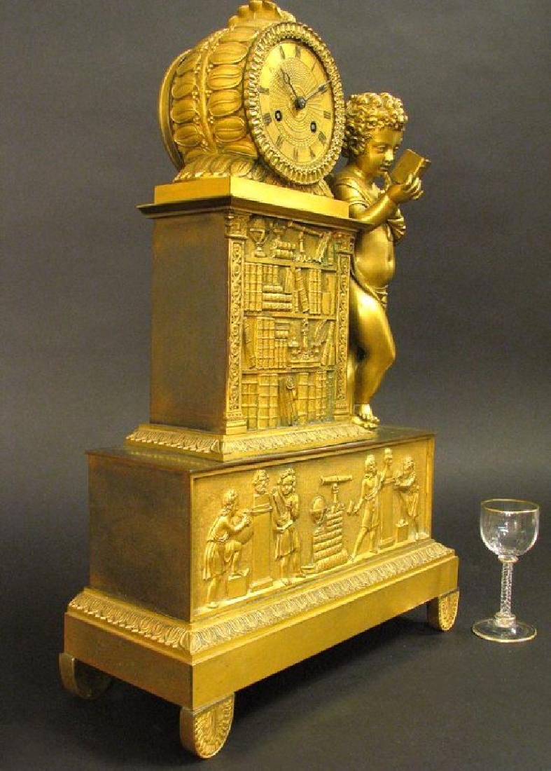 Magnificent 19th C. Large Empire Figural Clock - 3
