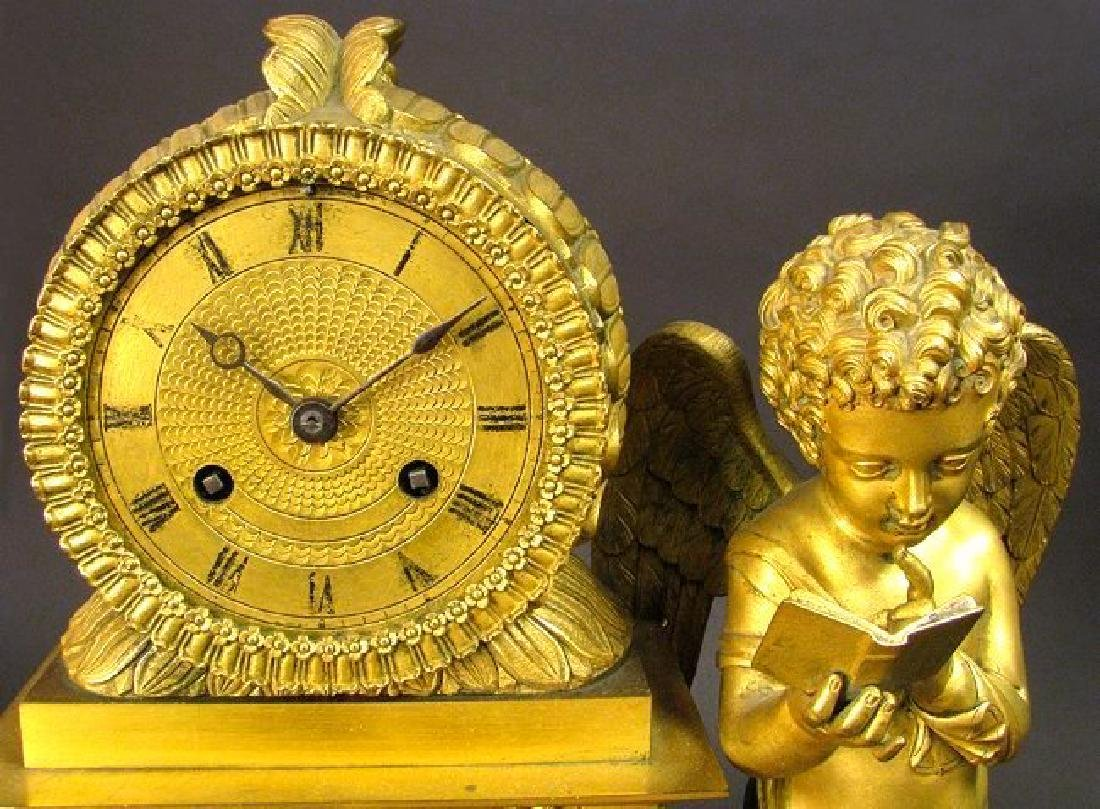 Magnificent 19th C. Large Empire Figural Clock - 5