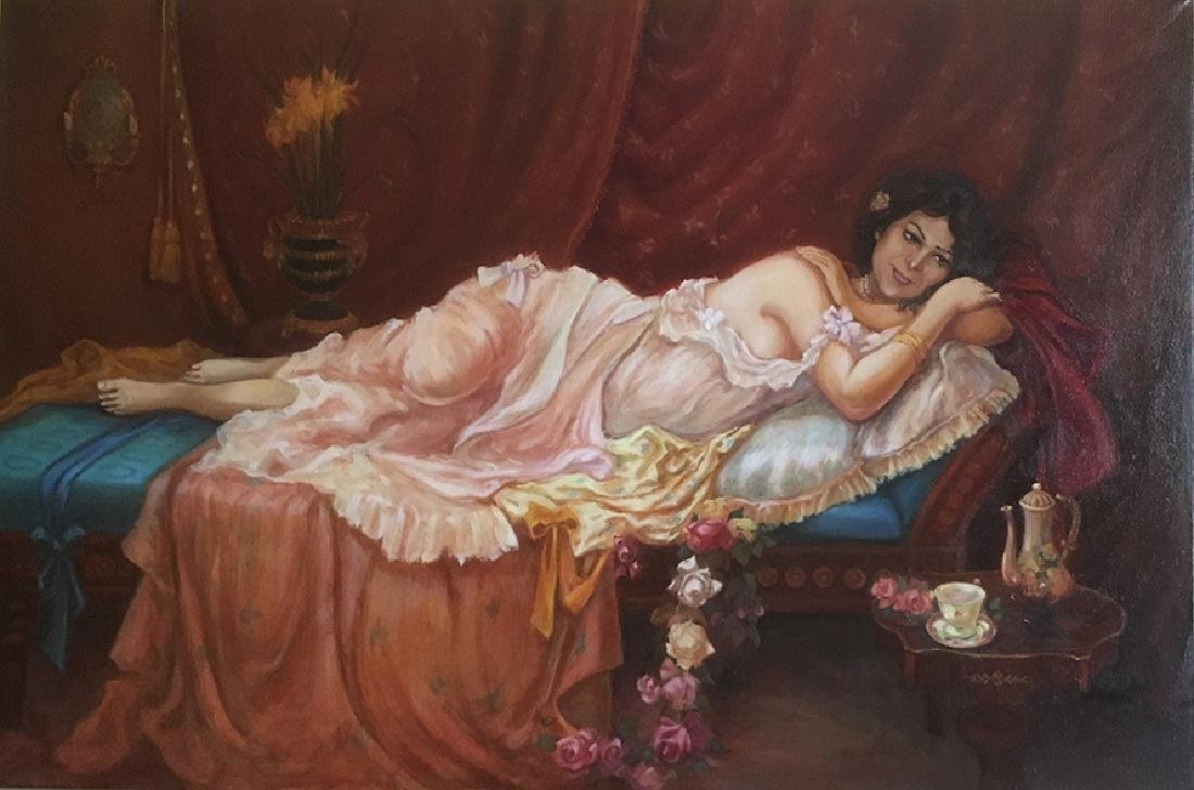 "The Boudoir"" Oil on Canvas By ""Arthur Zakarian"
