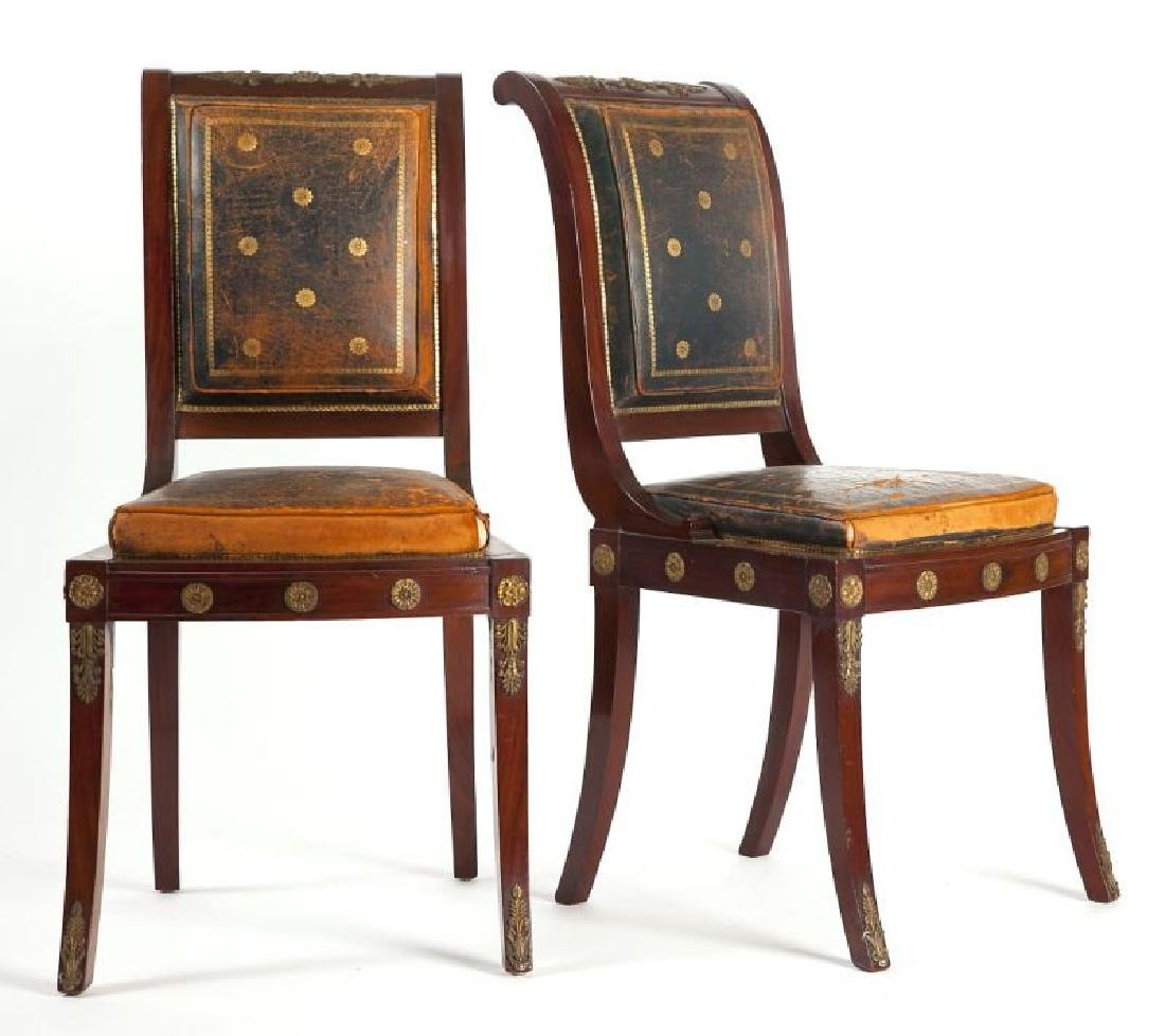 Pair of French Empire Side Chairs