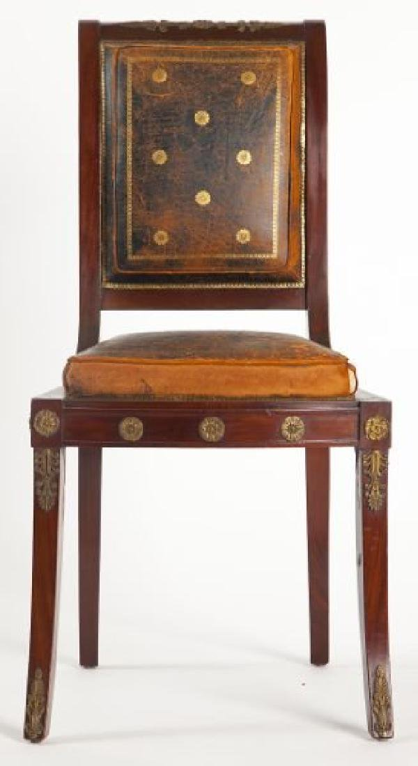 Pair of French Empire Side Chairs - 2