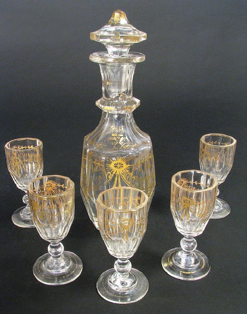 19th C. French Baccarat Crystal Liquor Set