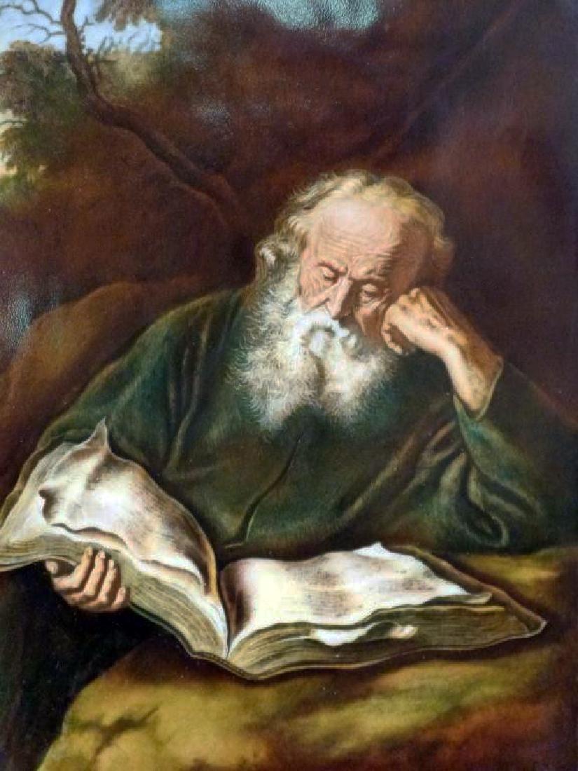 """""""Bearded Man Reading"""" Framed Porcelain Plaque - 2"""